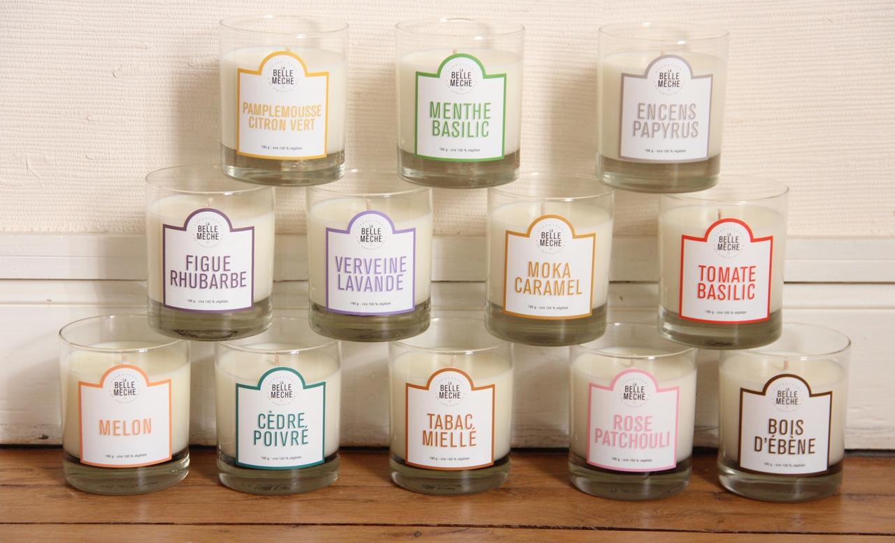Bougies parfumées Grasse La Belle Mèche