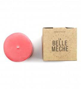 Bougie colorée rose fuchsia La Belle Mèche