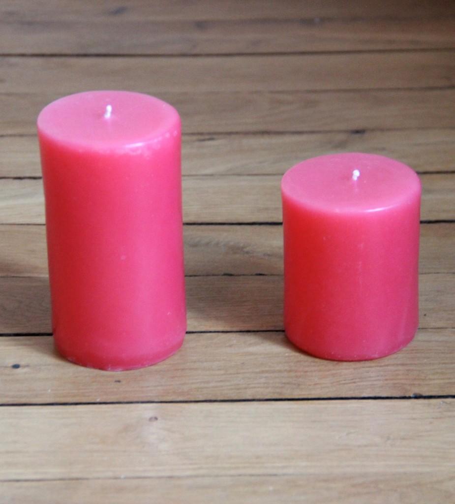 Bougie rose fushia La Belle Mèche