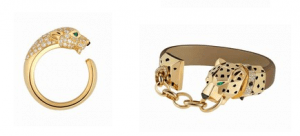 Bague et bracelet panthère Cartier