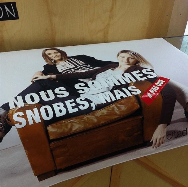 From Toulon with Love pose comme dans la pub Citadium de l'Agence Les Gros Mots hashtag PAS QUE #pasque