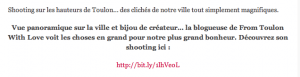 blogueuse mode shooting Mont Faron Toulon presse média Zoomon bon plan