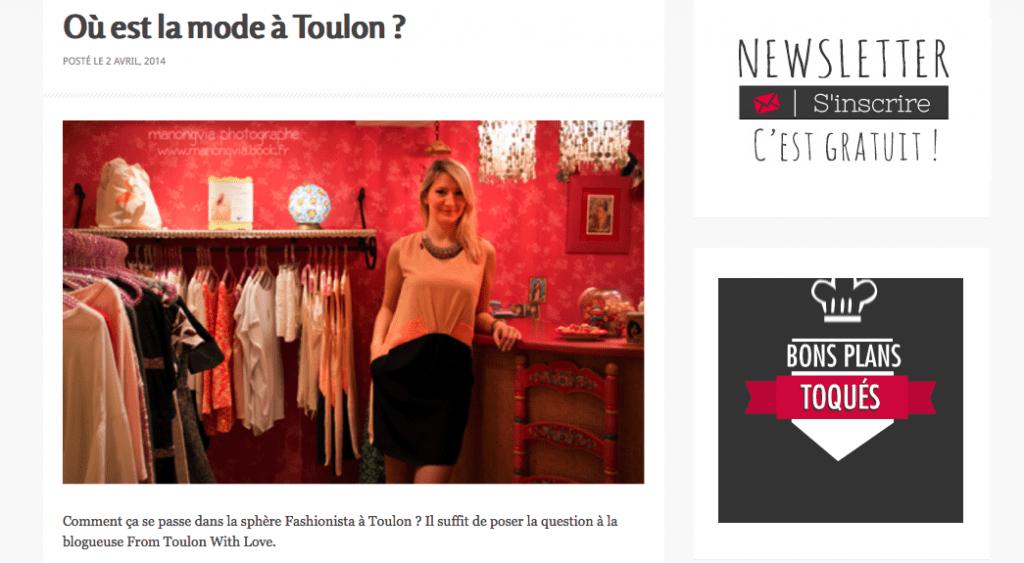 Où est la mode à Toulon ? Zoomon