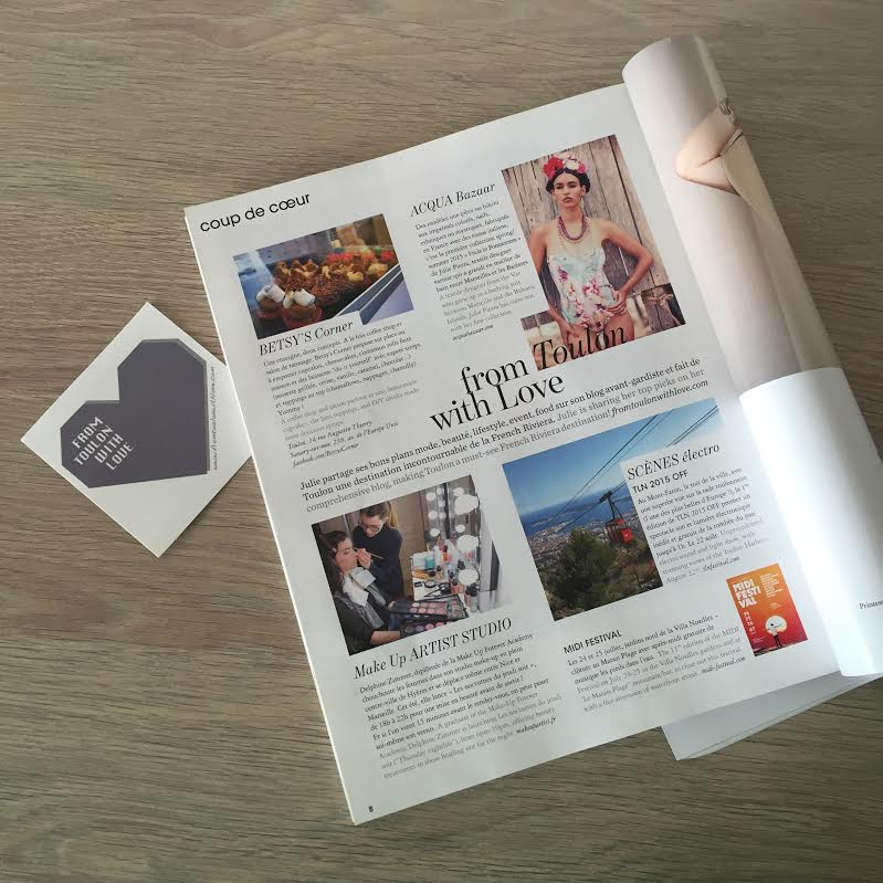 parution-presse-blogueuse-From Toulon with Love - French Riviera - MarieClaire-aout2015