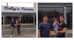 Matt Giteau et Drew Mitchell RCT à Betsy's Corner Toulon