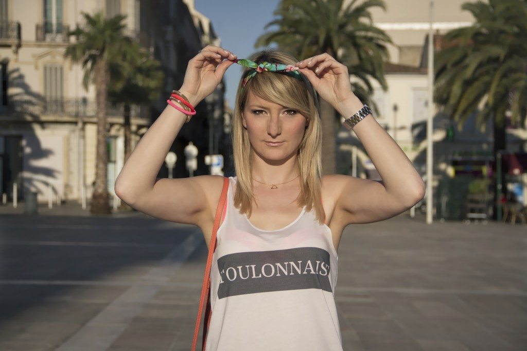 Julie blogueuse From Toulon with Love débardeur TOULONNAISE CTZ Triaaangles