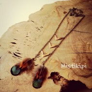 Mistikipi-bijoux-Hyères collier-sautoir-cheyenne-plumes-naturelles
