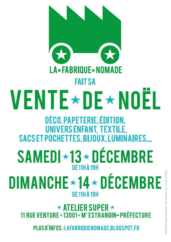 Fabrique nomade marché créateurs décembre 2014 Marseille