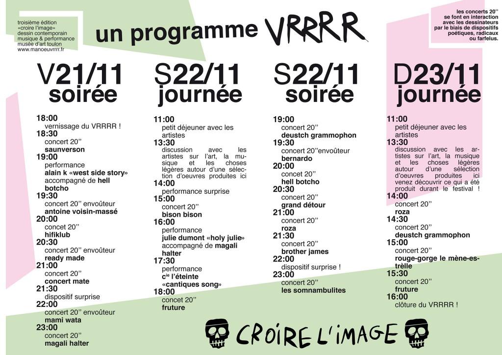 Programme festival VRRRR Toulon 2014