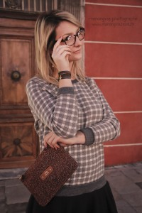 Look comment porter la robe pull Mademoiselle Socialite