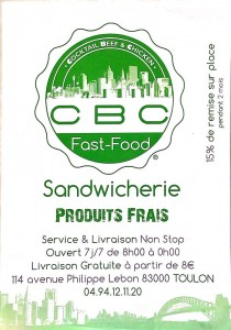 snack fast-food CBC Toulon