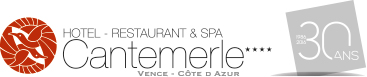 logo-hotel spa cantemerle 30 ans vence